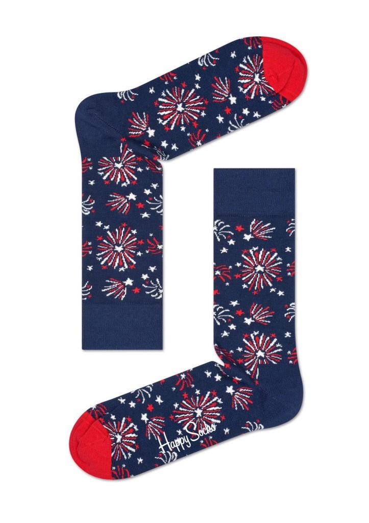 מוצרי Happy Socks לגברים Happy Socks Firework - כחול כהה