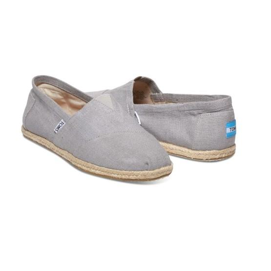 נעלי Toms לגברים Toms Linen Rope Sol Alpargata - אפור