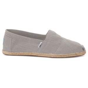 נעלי Toms לגברים Toms Linen Alpargata - אפור