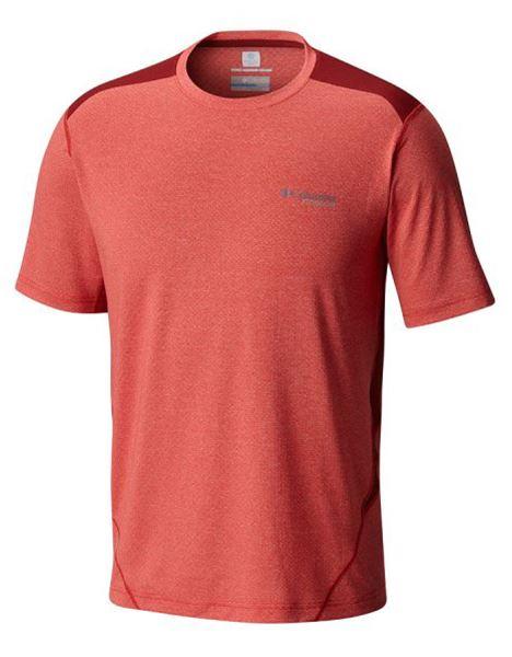 מוצרי קולומביה לגברים Columbia Titan Ice Short Sleeve - אדום