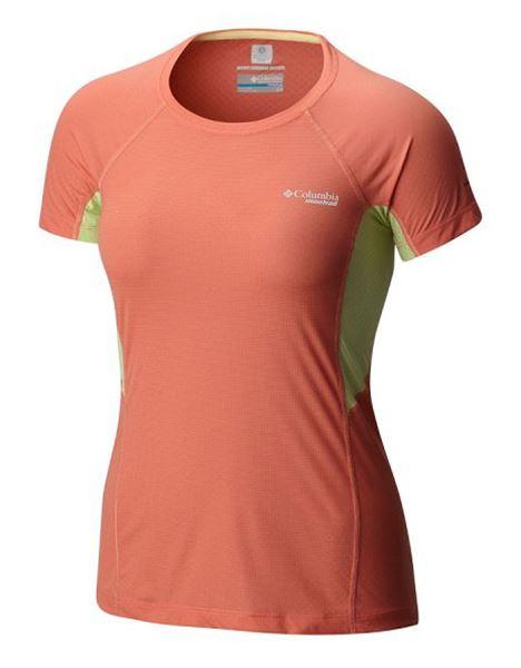 מוצרי קולומביה לנשים Columbia Titan Ultra Short Sleeve - אפרסק