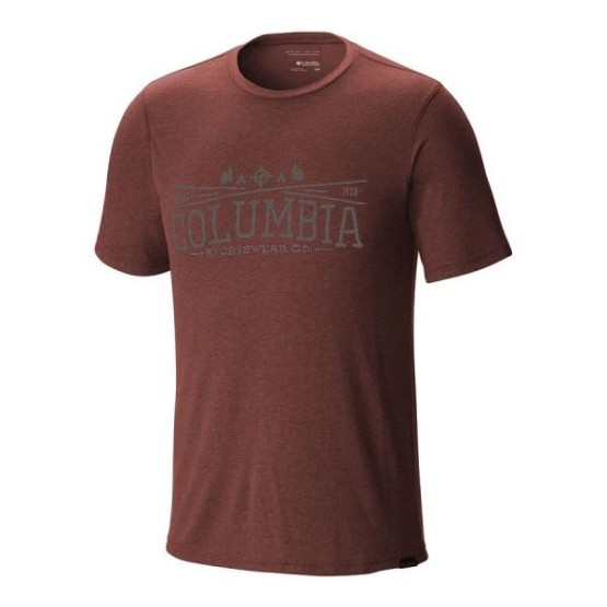 מוצרי קולומביה לגברים Columbia Trail Shaker Short Sleeve - חום