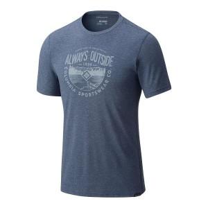 מוצרי קולומביה לגברים Columbia Trail Shaker Short Sleeve - כחול כהה