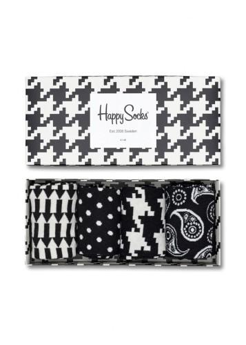 נעלי Happy Socks לנשים Happy Socks Black and White Gift Box - שחור/לבן
