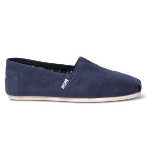 נעלי Toms לגברים Toms Canvas Classic - כחול כהה