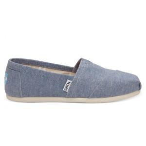 נעלי Toms לנשים Toms Chambray - תכלת