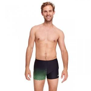 מוצרי זוגס לגברים Zoggs Chevron Hip Racer - שחור/ירוק