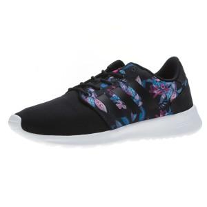 נעלי אדידס לנשים Adidas Cloudfoam QT Racer - שחור פרחוני