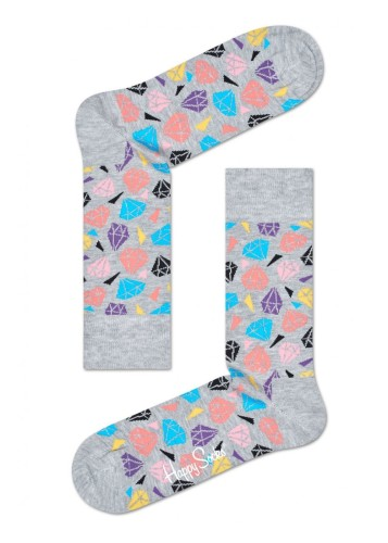 נעלי Happy Socks לנשים Happy Socks Diamond - אפור