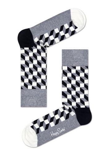 נעלי Happy Socks לנשים Happy Socks Filled Optic - אפור