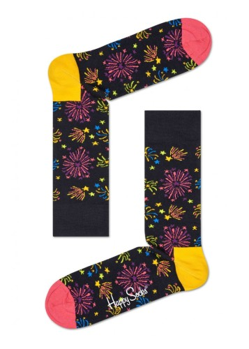 נעלי Happy Socks לגברים Happy Socks Firework - צבעוני/שחור