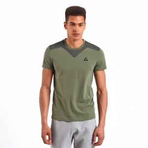 מוצרי לה קוק ספורטיף לגברים Le Coq Sportif LCS Tech Shirt - ירוק