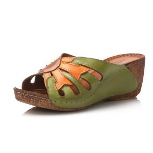נעלי Gemini לנשים Gemini Laura - חום/ירוק