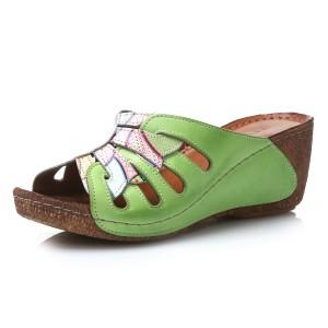 נעלי Gemini לנשים Gemini Laura - לבן/ירוק