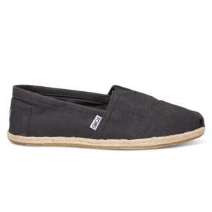 נעלי Toms לגברים Toms Linen Alpargata - שחור