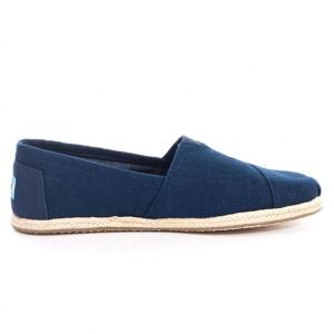 נעלי Toms לגברים Toms Linen Alpargata - כחול