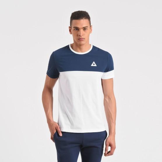 מוצרי לה קוק ספורטיף לגברים Le Coq Sportif Merrela Tee SS - כחול/לבן