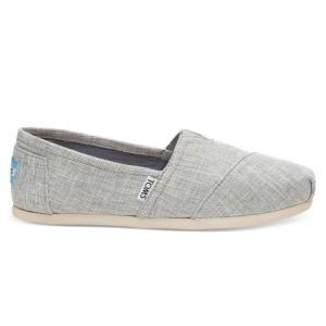 נעלי Toms לנשים Toms Metallic Woven - אפור בהיר