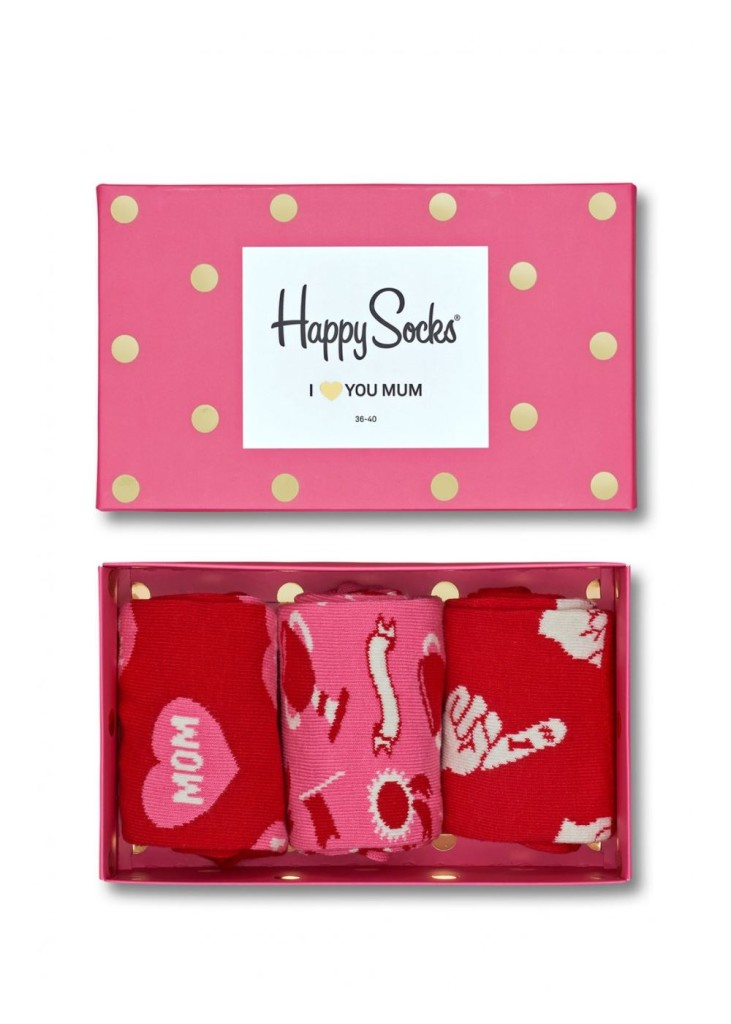 מוצרי Happy Socks לנשים Happy Socks Mothers Day Gift Box - ורוד/אדום