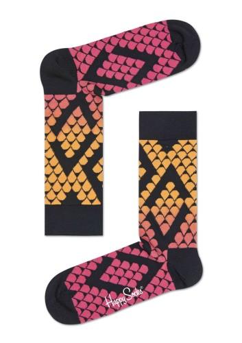 נעלי Happy Socks לנשים Happy Socks Faded Snake - שחור/כתום