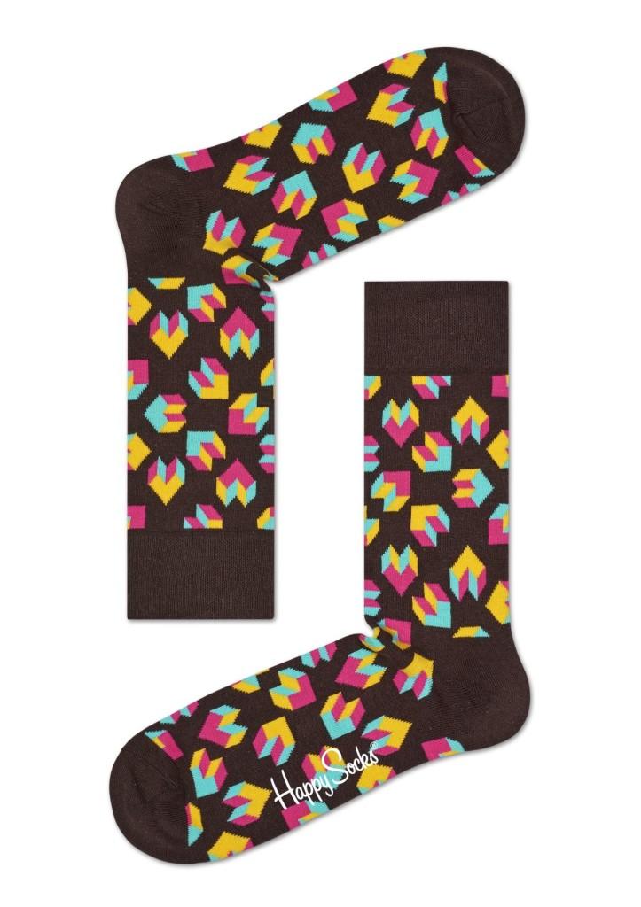 מוצרי Happy Socks לנשים Happy Socks Steps - חום כהה