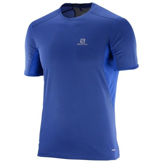 מוצרי סלומון לגברים Salomon Trail Runner SS - כחול