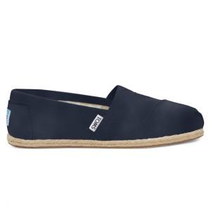 נעלי Toms לנשים Toms Washed Canvas - כחול כהה