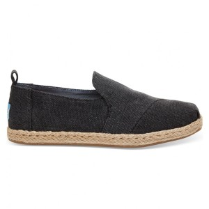נעלי Toms לנשים Toms Washed Canvas Deconstructed - שחור
