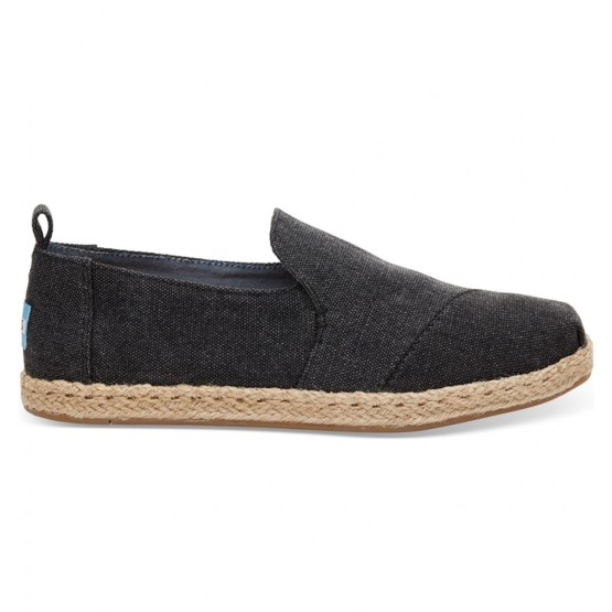 מוצרי Toms לנשים Toms Washed Canvas Deconstructed - שחור
