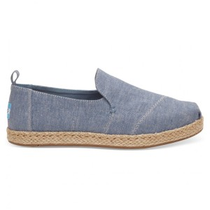 נעלי Toms לנשים Toms Washed Canvas Deconstructed - כחול