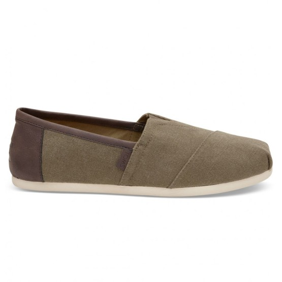 נעלי Toms לגברים Toms Washed Canvas Trim - חום/ירוק