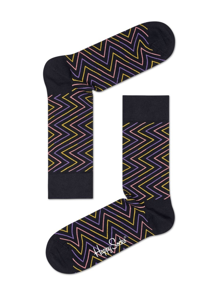 מוצרי Happy Socks לנשים Happy Socks Ziggy - צבעוני/שחור
