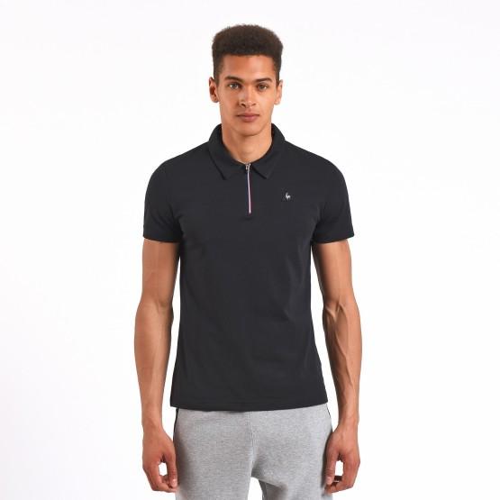 מוצרי לה קוק ספורטיף לגברים Le Coq Sportif Zipper Polo - שחור