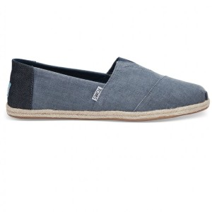נעלי Toms לגברים Toms Coated Linen Rope - כחול