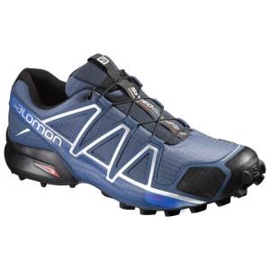 מוצרי סלומון לגברים Salomon Speedcross 4 - כחול/לבן
