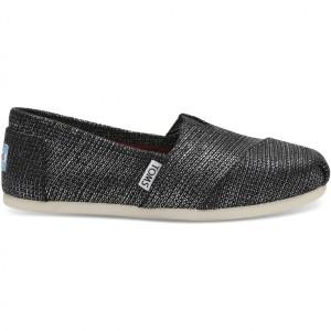 נעלי Toms לנשים Toms Metallic Burlap - אפור