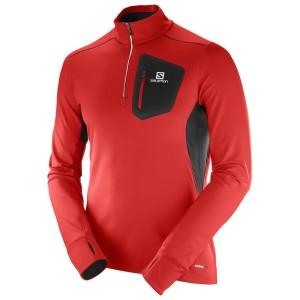 מוצרי סלומון לגברים Salomon Trail Runner Warm Mid - אדום