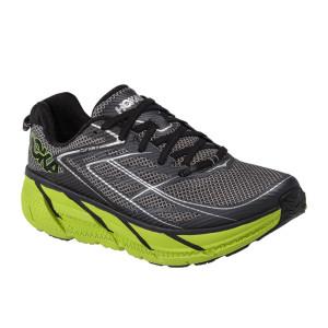 נעלי הוקה לגברים Hoka One One Clifton 3 - אפור/ירוק