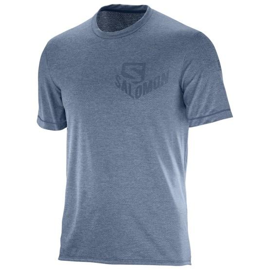 מוצרי סלומון לגברים Salomon Pulse SS TEE - כחול