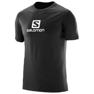 מוצרי סלומון לגברים Salomon Coton Logo SS TEE - שחור