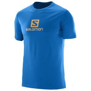 מוצרי סלומון לגברים Salomon Coton Logo SS TEE - כחול