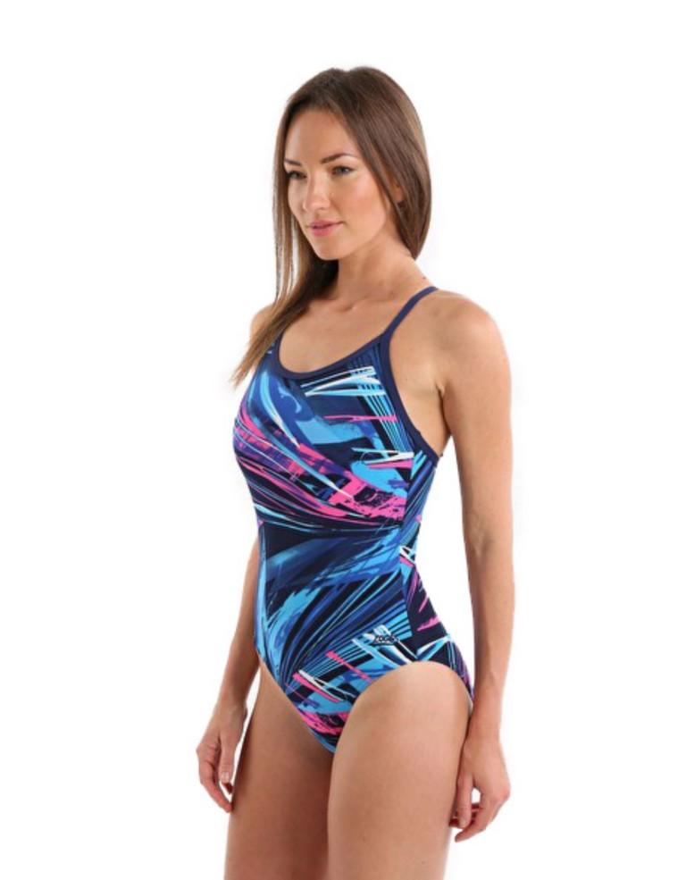 מוצרי זוגס לנשים Zoggs Aurora Sprintbk - צבעוני כהה
