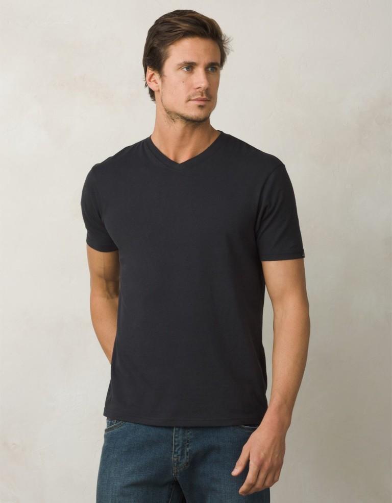 מוצרי Prana לגברים Prana V Neck Slim Fit - שחור