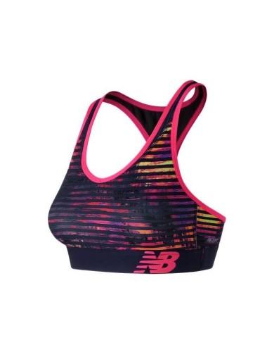 מוצרי ניו באלאנס לנשים New Balance Pace Printed Bra - סגול