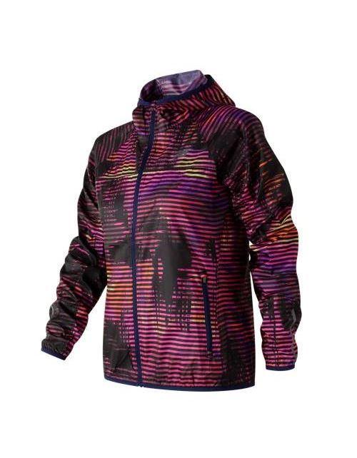מוצרי ניו באלאנס לנשים New Balance Windcheater Printed Jacket - ורוד/שחור