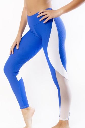 מוצרי ריו גים לנשים Rio Gym Jasmine Legging - כחול/לבן