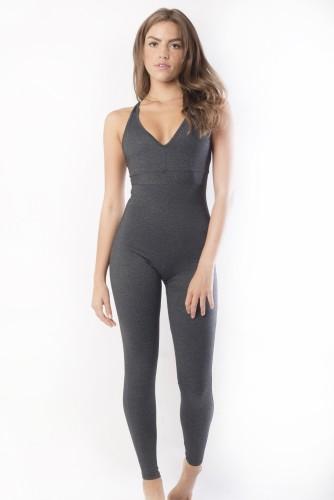 מוצרי ריו גים לנשים Rio Gym Venice Jumpsuit - אפור כהה