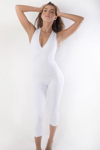 מוצרי ריו גים לנשים Rio Gym White Vivi Jumpsuit - לבן