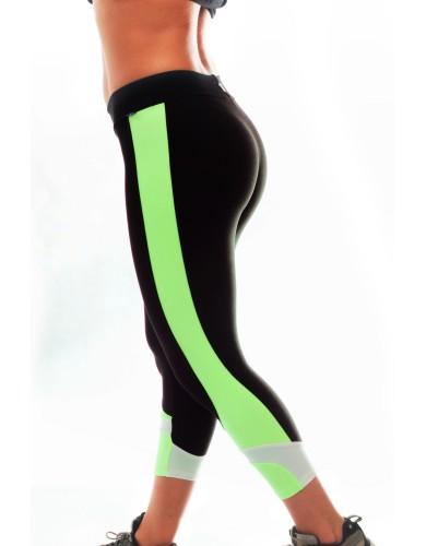 מוצרי ריו גים לנשים Rio Gym Luana Green Capri - שחור/ירוק