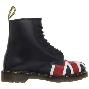 מוצרי דר מרטינס  לנשים DR Martens Union Jack - שחור הדפס